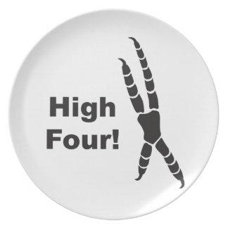 High Four Parrot Footprint (High Five) Plate