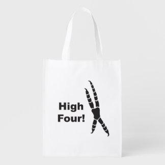 High Four Parrot Footprint (High Five) Reusable Grocery Bag