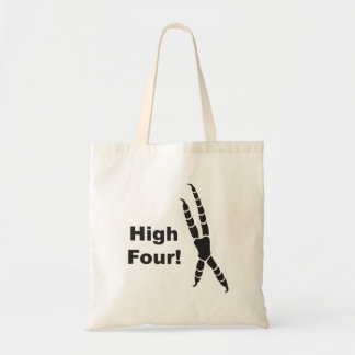 High Four Parrot Footprint (High Five) Tote Bag