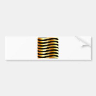 High grade gold metal waves bumper sticker