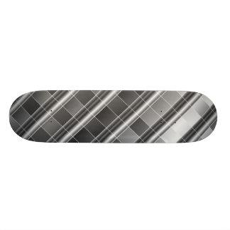 High grade silver metal skateboard decks