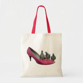High Heel Pigeons Tote Bag