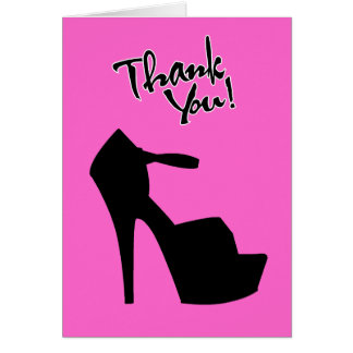 HIGH HEEL STAR - PUMP IT UP THANK YOU CARD