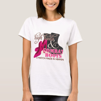 High Heels and Combat Boots (Black) T-Shirt