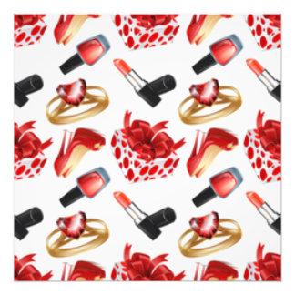 High Heels Cosmetic Diamond Ring Wrap Box Photo Print