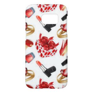 High Heels Cosmetic Diamond Ring Wrap Box Samsung Galaxy S7 Case