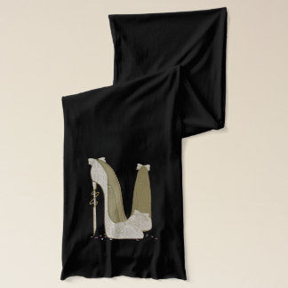 High Heels Lace and Bows Stiletto Shoes Scarf