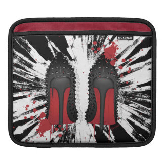 high heels with CRAZY background iPad Sleeve