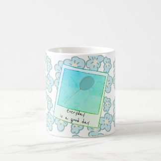 High Hopes Floral with Puffy Blue Blooms Coffee Mug