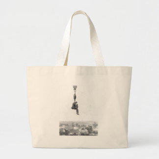 High In The Air Vintage Photo Tote Bags