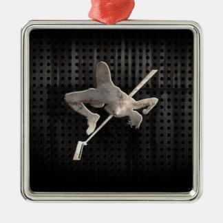 High Jump; Cool Metal Ornament