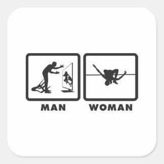 High Jump Square Sticker