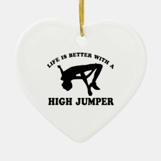 High Jumper Design Ceramic Ornament