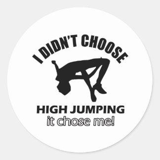 HIGH JUMPING DESIGNS CLASSIC ROUND STICKER