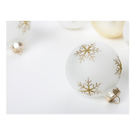 High Key Christmas Ornament Holiday Template Postcard