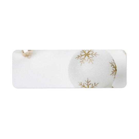 High Key Christmas Ornament Holiday Template Return Address Label
