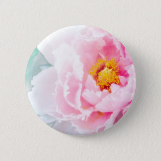 High Key Pink Peony Flower 2 Inch Round Button