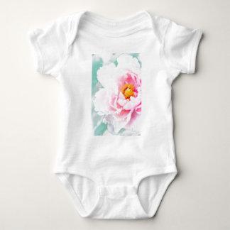 High Key Pink Peony Flower Baby Bodysuit