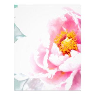 High Key Pink Peony Flower Letterhead