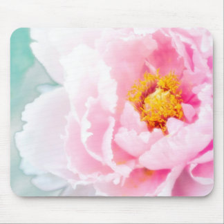 High Key Pink Peony Flower Mouse Pad
