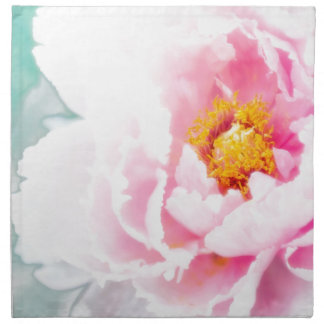 High Key Pink Peony Flower Napkin
