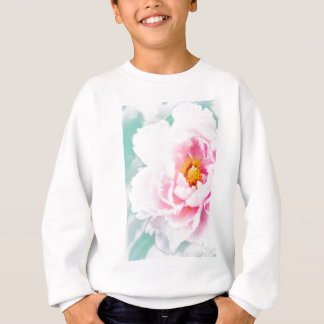 High Key Pink Peony Flower Sweatshirt