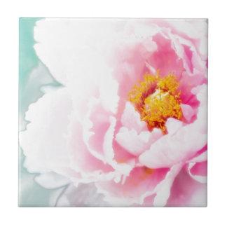 High Key Pink Peony Flower Tile