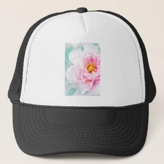High Key Pink Peony Flower Trucker Hat