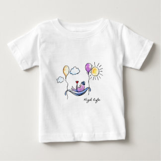 """High Life"" Comic bird in hammock in sky Baby T-Shirt"