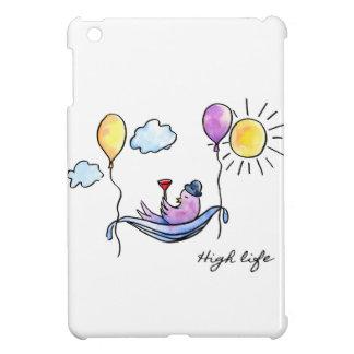 """""""High Life"""" Comic bird in hammock in sky iPad Mini Cases"""