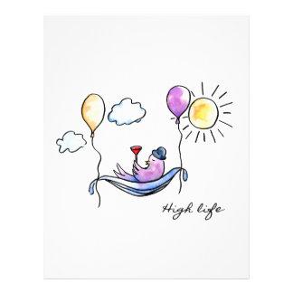 """""""High Life"""" Comic bird in hammock in sky Letterhead"""