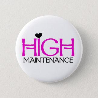 High Maintenance 2 Inch Round Button