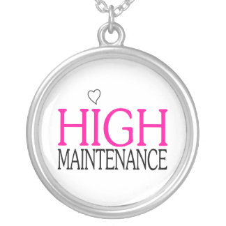 High Maintenance Silver Plated Necklace
