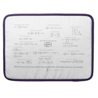 high-math inspiration 01 - black & gray sleeve for MacBook pro