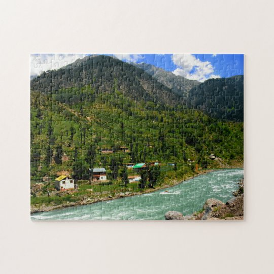 High Mountain Rivers Pakistan. Jigsaw Puzzle