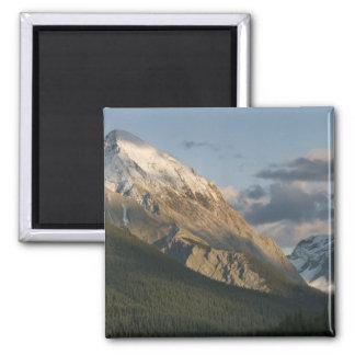 High peak near Maligne Lake, Jasper National Square Magnet
