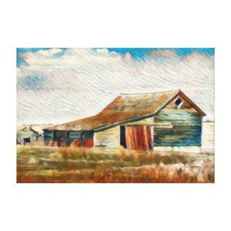 High Plains Barn Painting Canvas Print