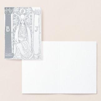 High Priestess Silver Tarot Card