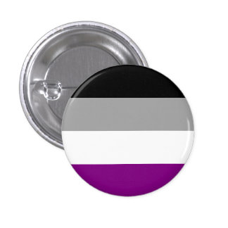 High Quality Asexual Flag Button