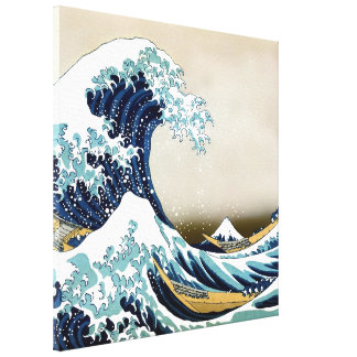 "High Quality Great Wave off Kanagawa (24"" x 24"") Canvas Print"