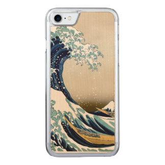 High Quality Great Wave off Kanagawa by Hokusai Carved iPhone 8/7 Case
