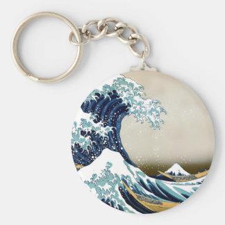 High Quality Great Wave off Kanagawa by Hokusai Keychain