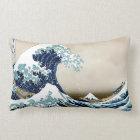 High Quality Great Wave off Kanagawa by Hokusai Lumbar Pillow