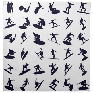 High Quality Surfer Silhouettes Napkin