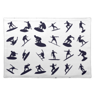 High Quality Surfer Silhouettes Placemat