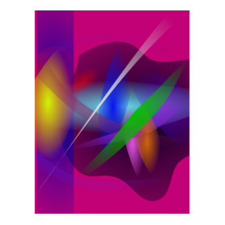 High Quality Translucent Abstract Painting Postcard