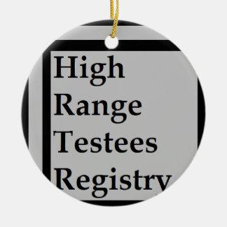 High Range Testees Registry (HRTR) Ceramic Ornament