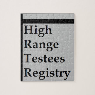 High Range Testees Registry (HRTR) Jigsaw Puzzle