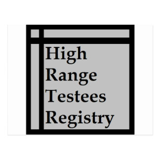 High Range Testees Registry (HRTR) Postcard