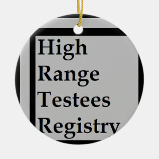 High Range Testees Registry (HRTR) Round Ceramic Ornament